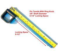 "Pin 3/8"" Dia 5-1/2"" Locking | RING knob Fitness Eqpt Weight Stack Selector KEY"