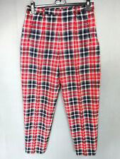 Pantalon écossai femme vintage à carreaux ROYAL MER BRETAGNE Taille W30 L28 FR38