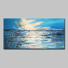 Mintura Hand Oil Paintings on Canvas The Blue Landscape Home Decoration Wall Art