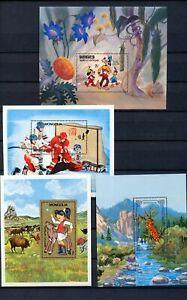 Mongolia Soccer Birds Chess Disney Mini Sheets MNH x 16 (Tro 597