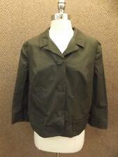 Jacque Cartier Tailleur Vtg 1950s NEW Dark Gray Cotton Cropped Blazer Jacket XL