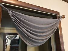 Martha Window Flutter Tab-Top Waterfall Valance 29 W x 32 L Gray Storm Front