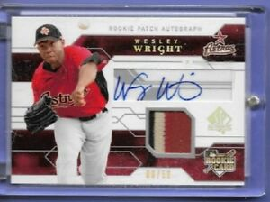 2008 UPPER DECK SP AUTHENTIC WESLEY WRIGHT  AUTO/MAT  06/50