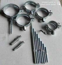 Regenrohrschelle Fallrohrschelle Ablaufrohrschelle+Stocks.M10/80-300mm +Dübel