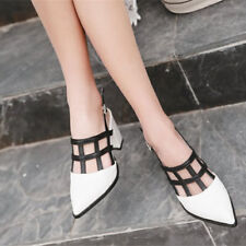Chic Womens Sexy Hollow Pump Ankle Strap Pointy Toe High Heel Slingback Shoes