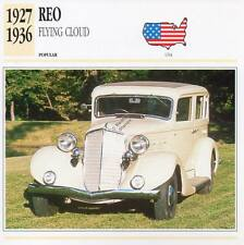 1927-1936 REO FLYING CLOUD Classic Car Photograph / Information Maxi Card