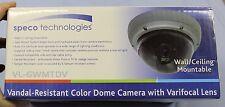 SPECO Vandal Resistant Color Dome Camera with Varifocal Lense VL6WMTD