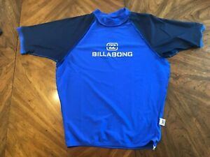 Billabong Rash Guard Men's Short Sleeve XL Extra Large- Blue