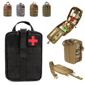 Große Molle Tasche Erste Hilfe IFAK Tactical Medical First Aid Pouch BW Army Bag