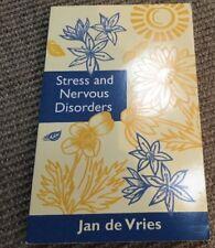 Stress And Nervous Disorders. By Jan De Vries. Alternative Medicine Book. VGC