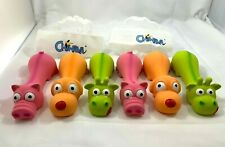 "6 PACK - Squeaky Latex Toys 6"" Fetch Dog Toy Puppy Play Toy Chiwava, Dog Pig Cow"