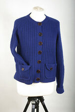 P437/48  Boden Ultramarine Wool Vintage Style Cardigan with Pockets, size UK14