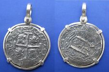 Sterling Silver Unique Pirate Doubloon Shipwreck Coin Pendant Necklace