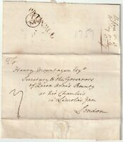 c.1757 DOWNHAM PMK WRAPPER LONDON BISHOPMARK TO HENRY MONTAGUE BOUNTY OFFICE