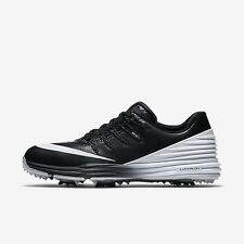 New Women's Nike Lunar Control 4 Golf Shoes Spikes Cleats Sz 9 Wide Black White