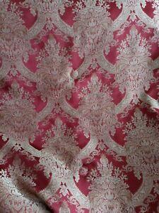 Elegant CROSCILL Burgundy/Gold Floral and Striped Reverse KING Size Comforter