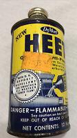 Vintage DeMert HEET Gas Line Anti-Freeze CONE TOP Tin Can