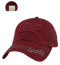 RARE NEW JEEP WRANGLER RUBICON UNLIMITED BURGUNDY RED HAT CAP GRILLE APPLIQUE