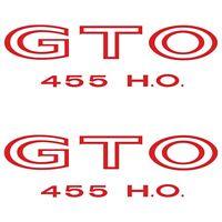 RestoParts White Body//Fender Decal Set 1970-1973 Pontiac GTO 3M Backing USA Made