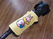 "dog shirt,sunny yellow, Bunny w/basket of carrots"",Small (*read size details)"