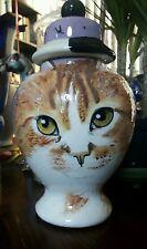 Custom Pet urn for ashes Cat urn orange TABBY LONG HAIRED Med memorial urn ashes