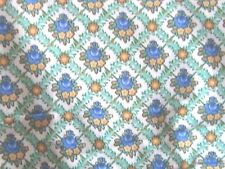 Beautiful farmhouse floral flowers print fabric material greens blues chic sew