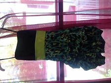 neon green and blue debs homecoming dress petites size 7