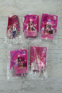 Vintage 2001 McDonalds Happy Meal Toy Set of 5 - Barbie # 3,5,6,7 and 8 - Sealed