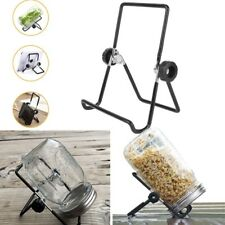 2X Stainless Steel Sprouting Stands Foldable Scaffolds fr Mason Jar Phone Tablet