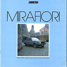 FIAT 131 MIRAFIORI 1982-84 UK vendite sul mercato opuscolo Saloon Estate 1400 1600 2000