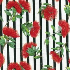 Fat Quarter Pohutukawa New Zealand Christmas Flower Cotton Quilting Fabric