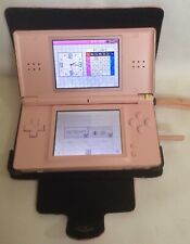 Nintendo DS lite Console + Pink Case (Broken Hinge) Works Well