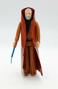 1977 Obi-Wan Kenobi Star Wars Action Figure Kenner GMFGI Hong Kong Very Good Condition 100/% Complete Original White Hair Vintage Obi Wan