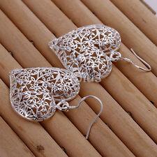 Studs Dangle Earrings For Gifts Ca 2pcs Fashion Earrings Silver Plated Heart