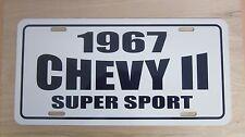 1967 Chevy ll Super Sport two 2 license plate tag 67 Chevrolet Nova  283 327