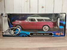 Maisto 1955 Chevrolet  Nomad Bel Air 1:18 Scale Diecast Model '55 Car Mauve