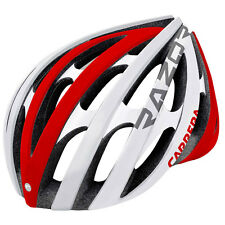Carrera Razor Road E00371 Adulti Protezione Moto Casco 58-61cm Bianco/Rosso