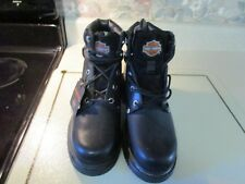 Harley-Davidson® Men's Riding Black Leather Motorcycle Boots 98525 Size 8 Wide