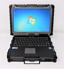 "GETAC V100 12"" TOUCH RUGGED NOTEBOOK I7-U640 4GB 500GB BT WIFI W7P - NEW DP READ"