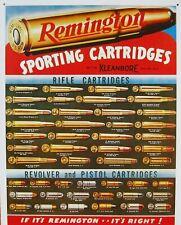Remington Sporting Cartridges Gun Rifle Shells Retro Metal Tin Sign 12 x 8 NEW