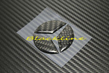 For Mercedes Carbon Steering Wheel Emblem Decal A C E CLA SLK SL ML GL 63 45 AMG