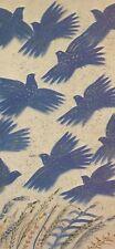 "Alekos Fassianos ""BLUE BIRDS"" Small Open Edition Offset-Litho Print Greek Artist"