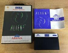 ALIEN 3 SEGA MASTER SYSTEM Complete TESTED
