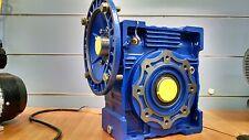 Worm Drive Gearbox NMRV075 100:1 ratio B5 Flange 19mm input shaft Speed reducer