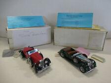 New Listing1928 Stutz Black Hawk & 1938 Alvis Lot of (2) 1:18 Scale Die-Cast Franklin Mint