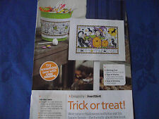 JOAN ELLIOTT'S TRICK OR TREAT HALLOWEEN SIGN HAPPY HAUNTING! CROSS STITCH CHART