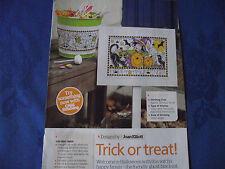 Joan Elliott's Trick or Treat Halloween Cartel Feliz Haunting! cuadro De Punto De Cruz