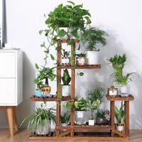 Pine Wood Plant Stand Indoor Outdoor Multiple Flower Pot Holder Shelf Rack Patio
