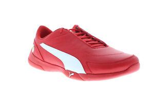 Puma Scuderia Ferrari Kart Cat III Mens Red Leather Motorsport Sneakers Shoes 12