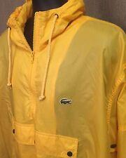 Vintage Izod Lacoste Retro Aligator Windbreaker Yellow Rain Coat Size XL - A43